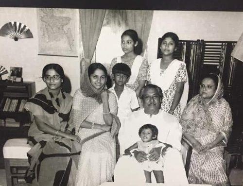 পরিবারের সদস্যদের সাথে বঙ্গবন্ধু শেখ মুজিবুর রহমান